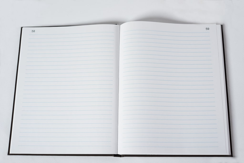 Plain Lined Notebook