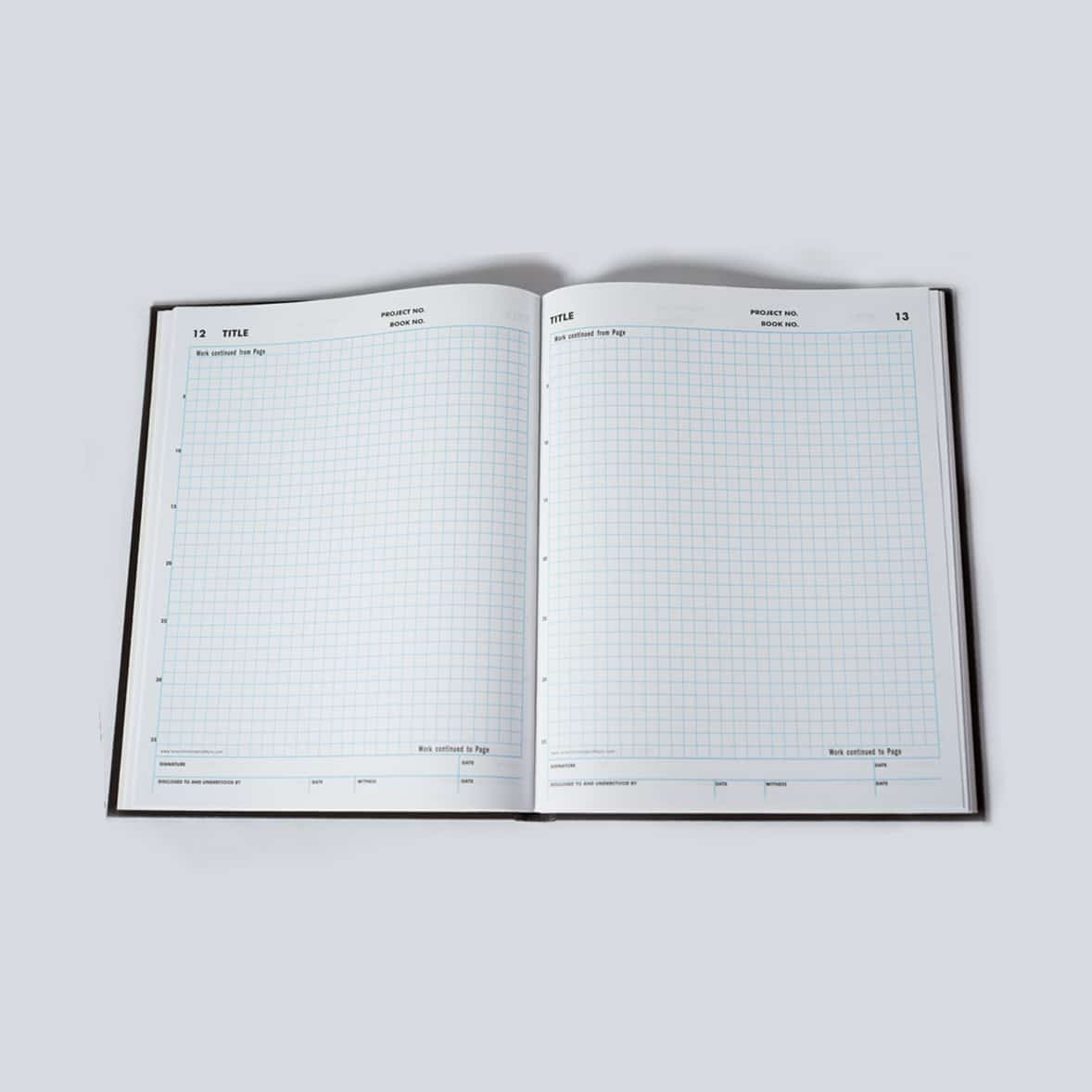 208 Page Grid Notebook Laboratory Notebook or Patent Related Research Notebook - Scientific Bindery
