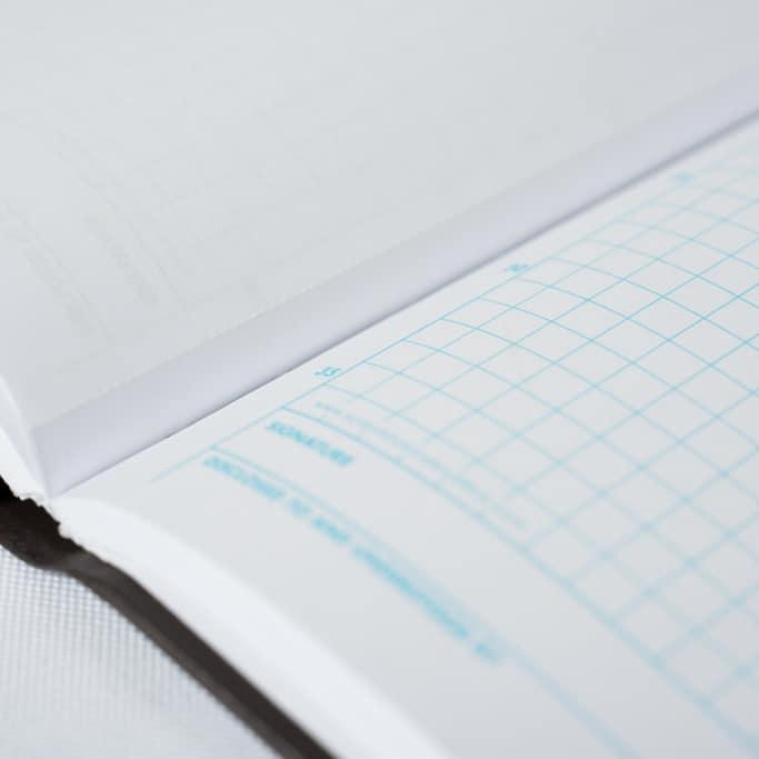 Duplicate Grid Notebook, Laboratory Notebook - Scientific Bindery
