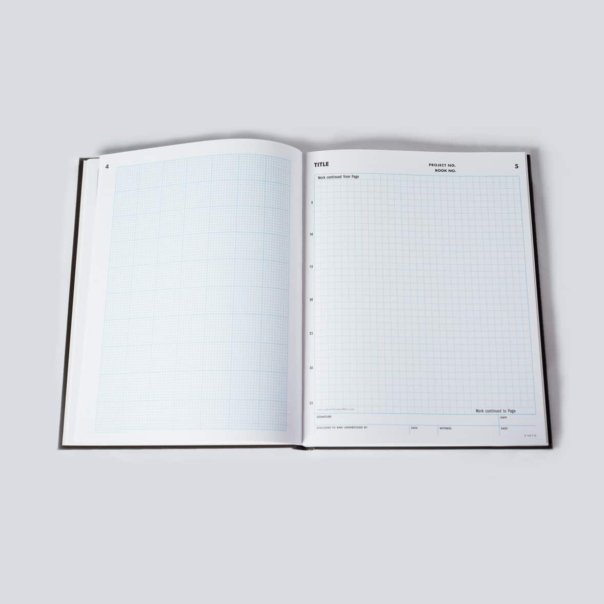 Two-Grid Notebook - Research Notebook, Engineer Notebook - Scientific Bindery