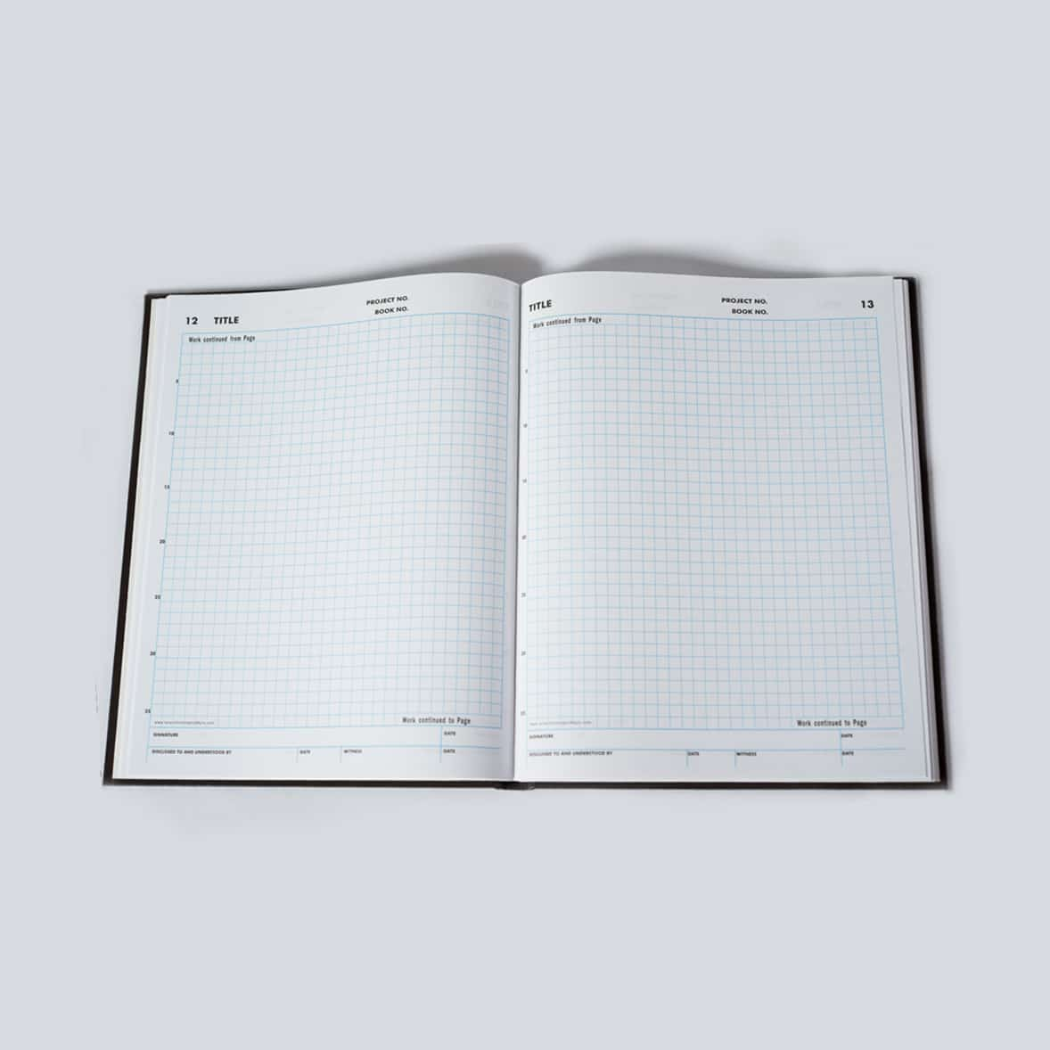 208 Page Grid Notebook | Scientific Bindery Notebooks
